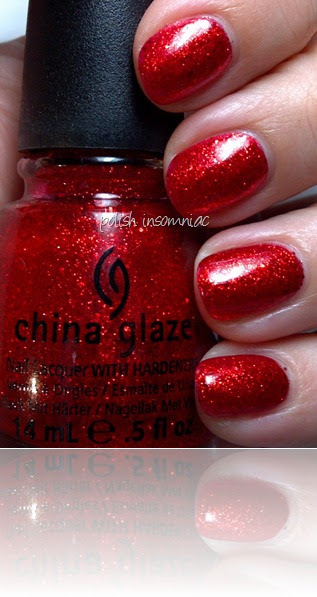 Polish Insomniac Ring In The Red And Glittering Garland