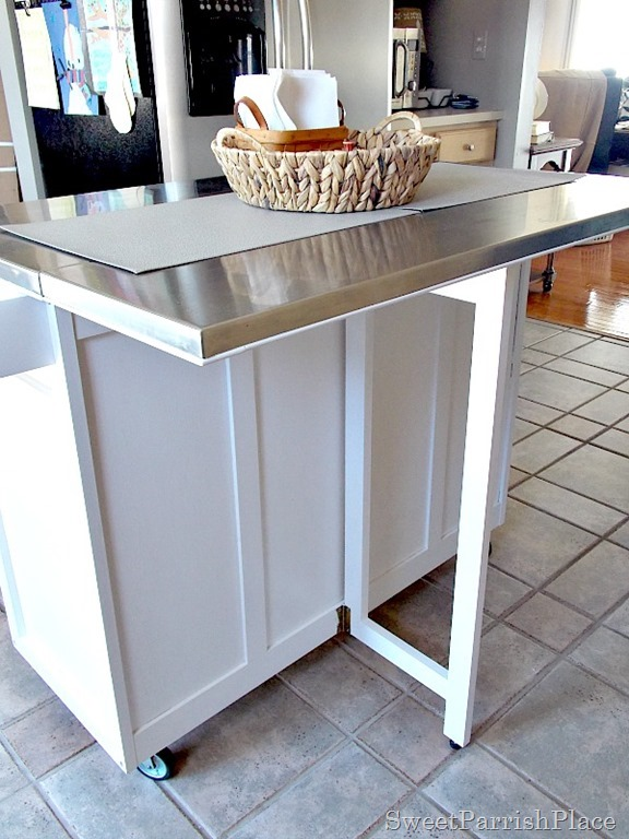 DIY Kitchen Island Leg Installation