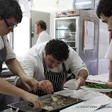 Nacho Gracia et son merlu frit avec risotto de champignons et coques