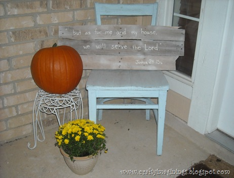 Front porch chair Fall
