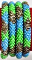 rollover bracelet brown green blue