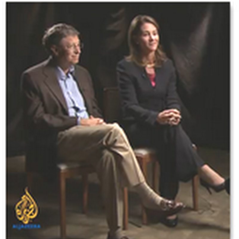 Bill and Melinda Gates–Talk to Al Jazeera On How They Are Trying To Help People Around the World With the Foundation and Themselves