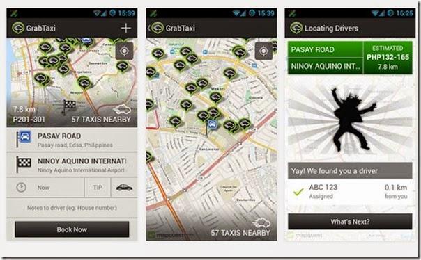 GrabTaxi app