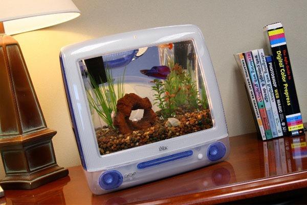 Macquarium-Apple-G3-Azul-Computador-Aquário-Frente