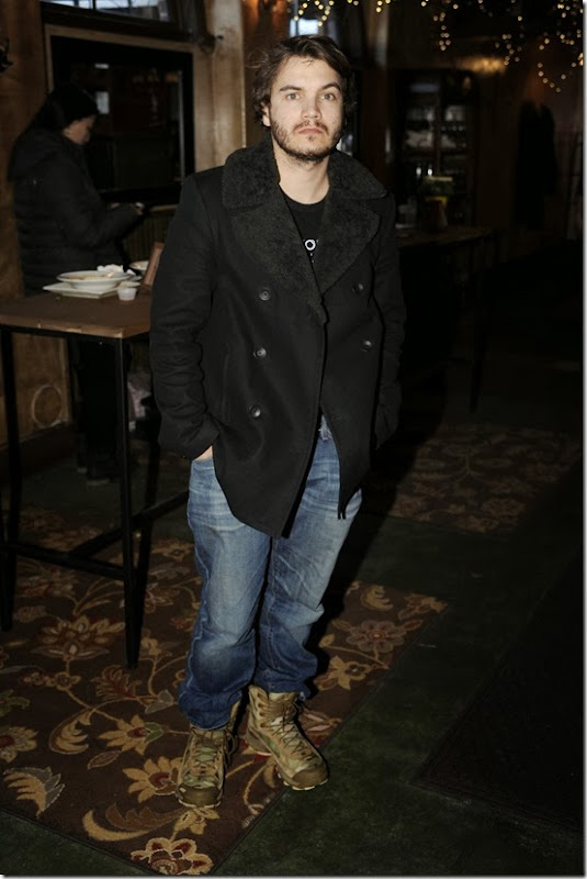 Emile Hirsch at Udis Gluten Free Table at Sundance