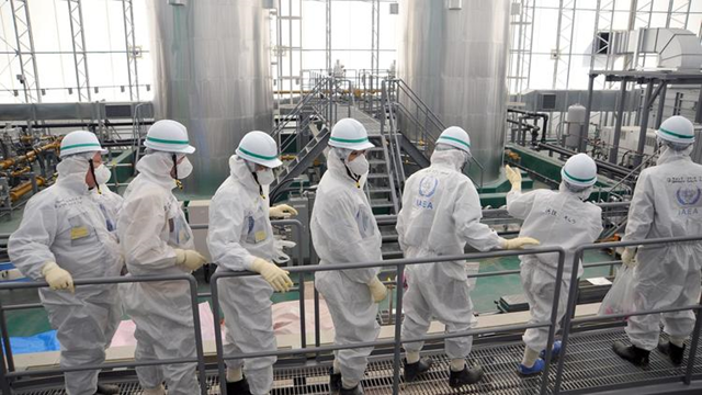 An International Atomic Energy Agency team inspects the Fukushima Dai-ichi nuclear power plant on 17 February 2015, in an official photo. Photo: International Atomic Energy Agency / AFP / Getty Images