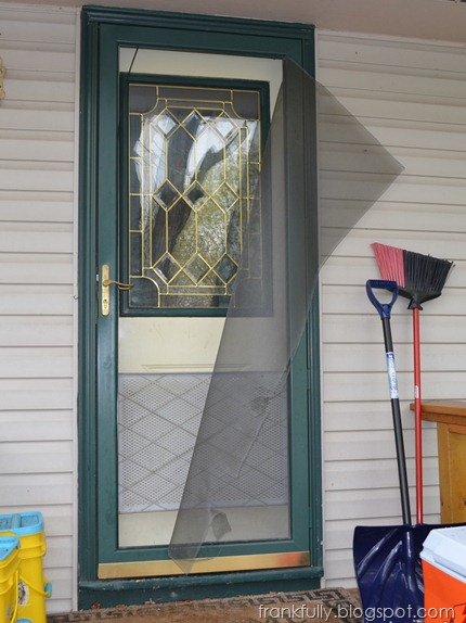 Grounder broke the screen door
