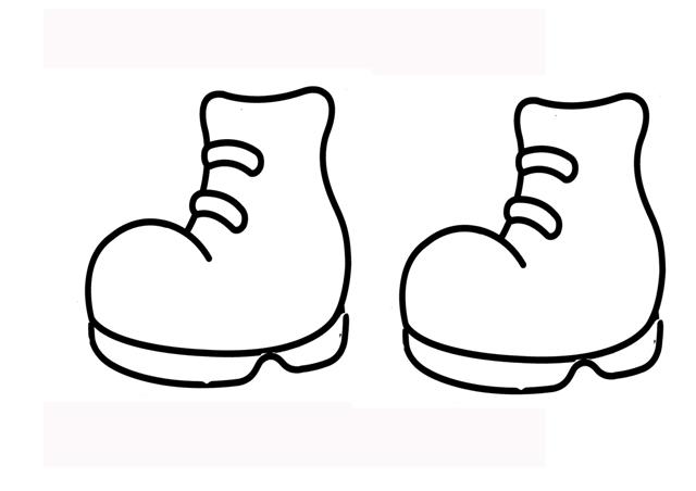 dibujo de botas para colorear