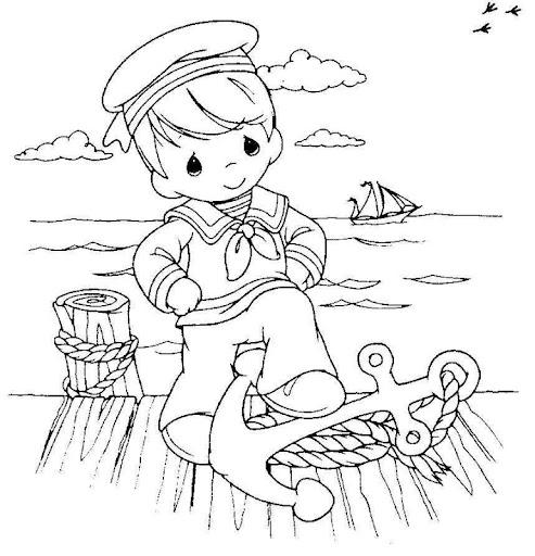 Día de la marina para colorear | Manualidades ...
