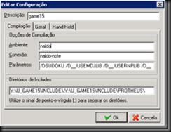 BlackTDN :: Game15 : Opções de Compilação