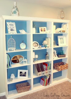walmart bookcases as built-ins