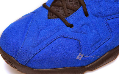 nike lebron 11 nsw sportswear ext blue suede 2 05 Nike LeBron XI (11) EXT Blue Suede Detailed Pictures