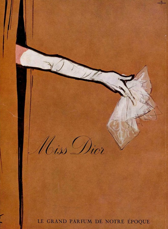 miss dior perfume vintage advert