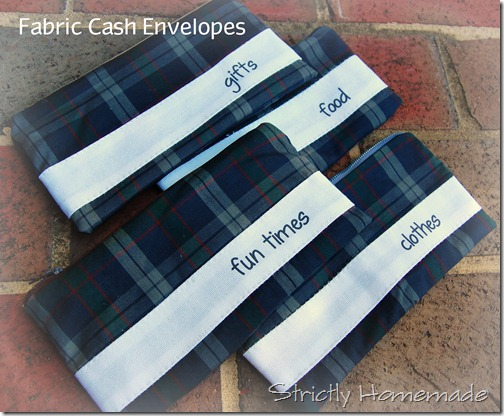 Fabric Cash Envelopes