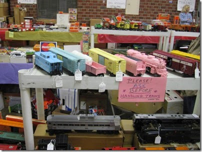 IMG_0200 Lionel Girls Train on Vendor Table at the Great Train Expo in Portland, Oregon on February 16, 2008