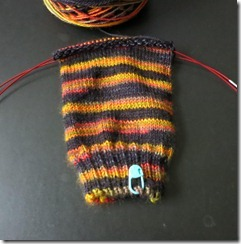 Rainy Days and Wooly Dogs - Fire Bad Tree Pretty sock 1