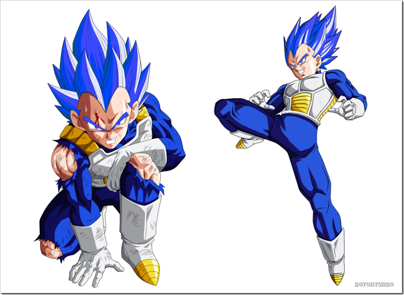 Vegeta Super Saiyajin dios Azul