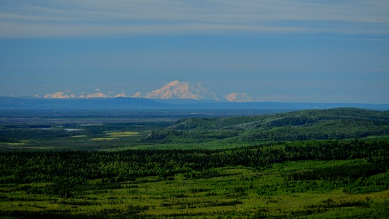 The Tanana River Valley with Denali 100 miles away