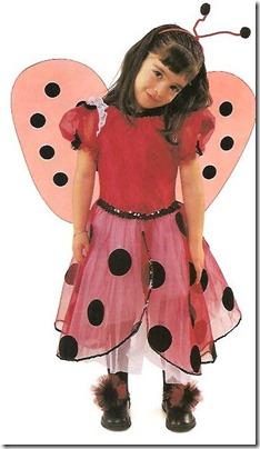 disfraz de mariquita con tul y alas