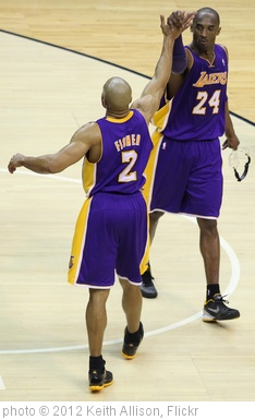 'Derek Fisher, Kobe Bryant' photo (c) 2012, Keith Allison - license: http://creativecommons.org/licenses/by-sa/2.0/