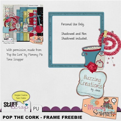 Mommy Me Time Scrapper - Pop the Cork - Frame Freebie Preview
