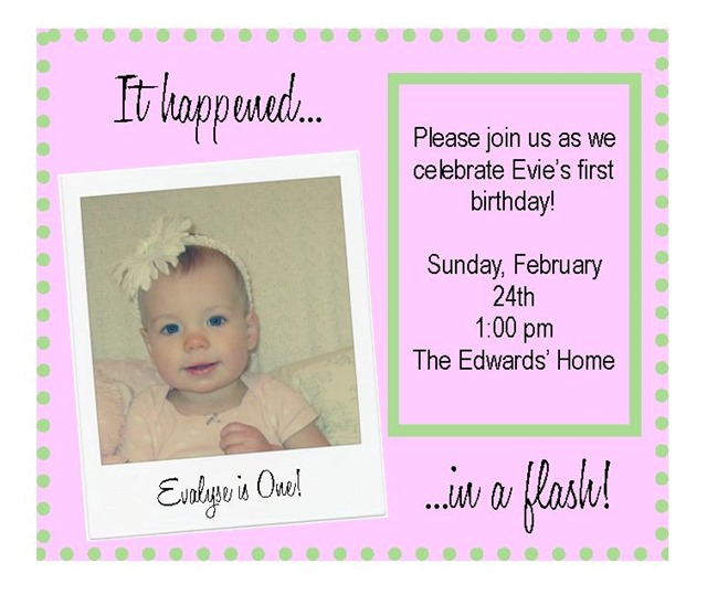 Evie's 1st Bday card 2