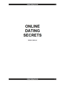 Cover of Brian Caniglia's Book Online Dating Secrets