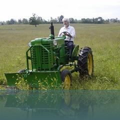 John on tractor