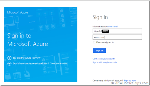 How to login into Microsoft Azure