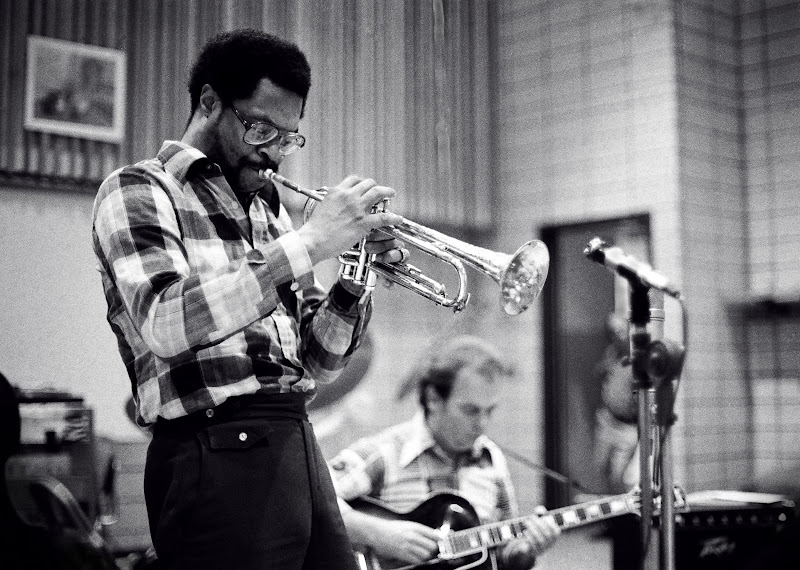 Woody Shaw & Harry Leahy - Jazz camp : SUNY Brockport 1977:8  By Tom Marcello.jpg