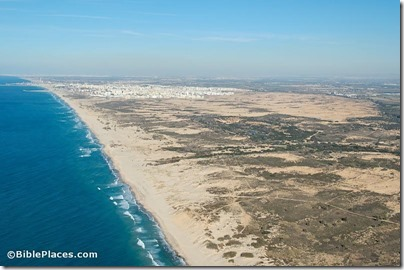 Coastal plain south of Ashdod aerial from south, tb121704850