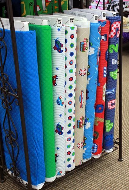 Cute boy fabrics found at The Fabric Mill