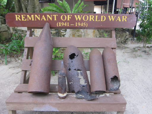 Bomb shells from WW II Allied attacks on Kota Kinabalu.