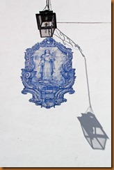 Lisbon, tile and lamp