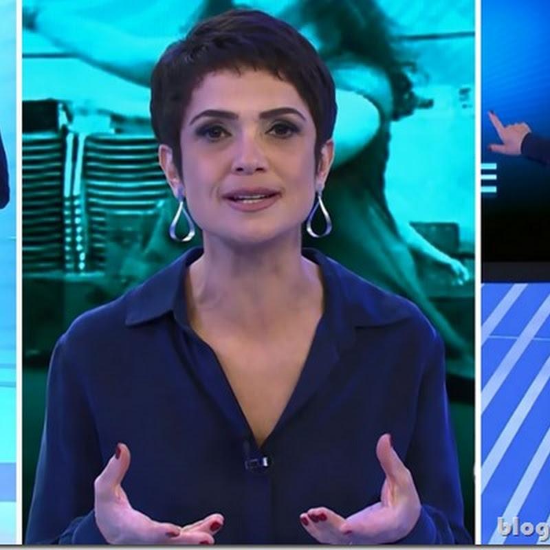 Look da Sandra Annenberg no Globo Ação dia 22 de março