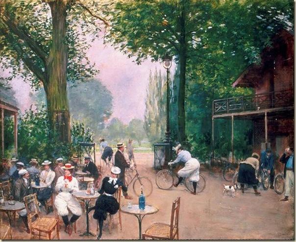 Jean Béraud, Le chalet du cycle au bois de Boulogne