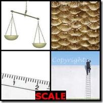 SCALE- 4 Pics 1 Word Answers 3 Letters