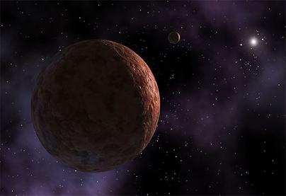 ilustração do planeta anão Sedna