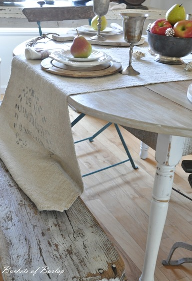 autumn table bench