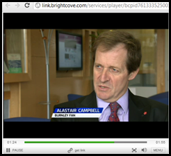 Alastair Campbell Burnley Football University