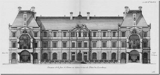 Palais du Luxembourg-Élévation du coté de la cour