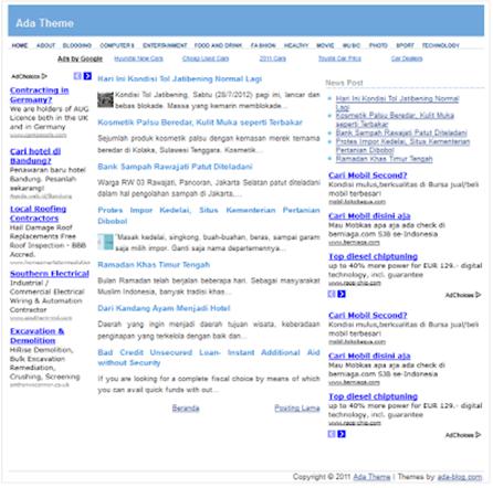 Ada SEO friendly blogger template
