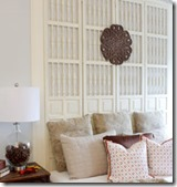 Screen Divider upcycled as Headboard