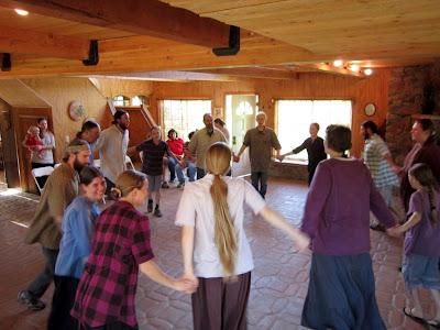 Twelve Tribes doing one of their Israeli dances