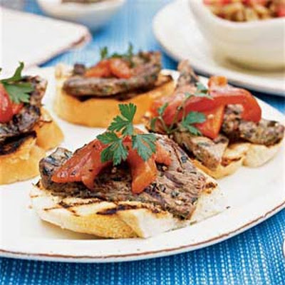 Grilled Bread with Tuscan-Style Lamb