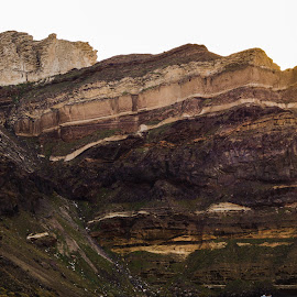 Greek Geo Strata by Donald Henninger - Novices Only Landscapes ( cliffs, mountain, volcano, nature, greece, tourism, rock, travel, rock formation, cruise, travel photography, island,  )