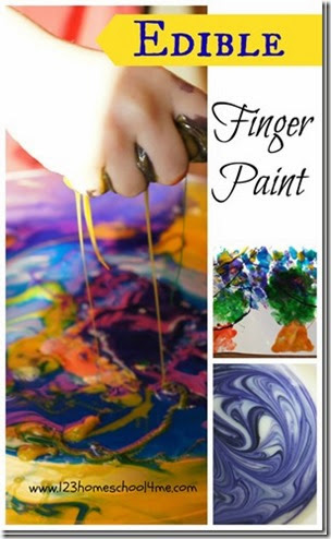 Edible Finger Paint from 123 Homeschool 4 Me