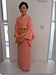 素敵な春色のお着物で卒業式に (1)