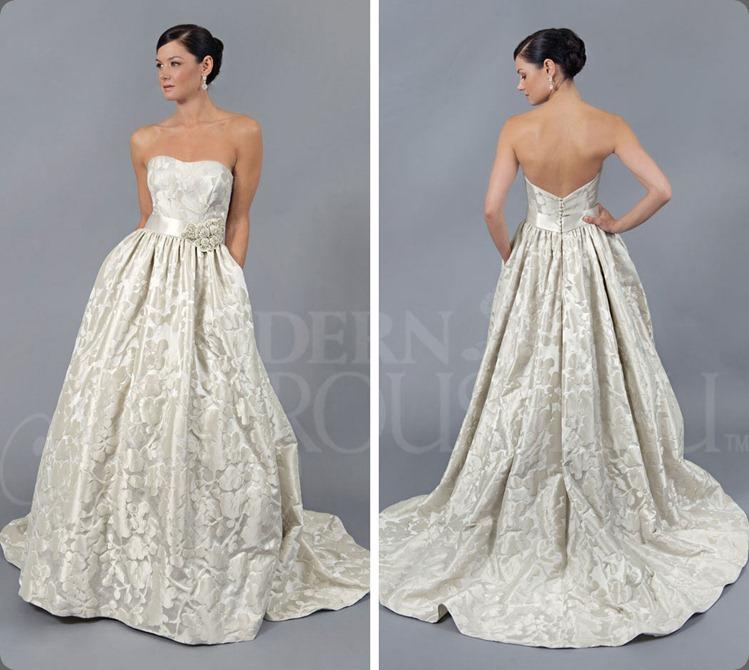 wedding dress modern troudeauregan