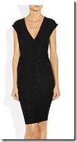 James Perse Ruched Wrap Effect Dress
